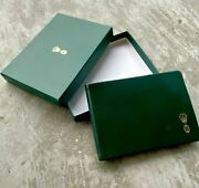 Vintage Rolex Green Leather Address And Phone Book 4165-v - With Outer Box