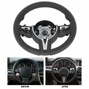 Nappa Leather Steering Wheel With Paddle For 5 6 7 Series F10 F12 F01 2011-2016