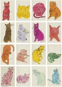 New Andy Warhol 25 Cats Name Sam And 1 Blue Pussy Art Print Poster Sketches Canvas