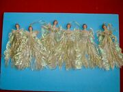 Vintage Angel In Gowns Dresses Christmas Tree Ornaments Xmas Doll Decoration