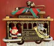 Vintage 70andrsquos Powell And Hyde St 39 Trolley Cable Christmas Ornament Santa Rare