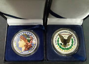Colorized 1921 Morgan Silver Dollar 1 Last Year Coin Painted + Display Gift Box