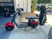 Soversky Electric Fat Tire Golf Scooter 2000w 20ah Lithium Scooter X7 Red