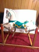 Vintage 1950's Rich Toys Spring Style Rocking Wonder Horse Wood And Plastic