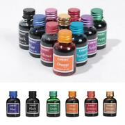 Rich Bright Colours Fountain Pen Ink In Glass Bottle