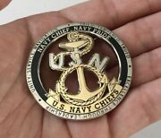 Usn Navy Cpo Chief Deckplate Leadership Anchor Ship Cut Out Challenge Coin Seals