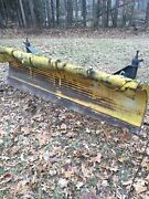 Heavy Duty 11and039 11 Foot Commercial Truck Snow Plow With Mount