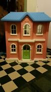 Vintage Little Tykes Full Size Doll House Pink 38 Height 37 Wide 23 1/2 Depth
