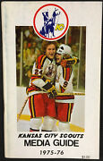1975-76 Kansas City Scouts Media Guide Nhl Hockey Schedule And Records Inside