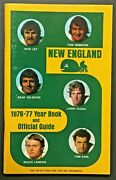 1976-77 New England Whalers Wha Media Guide Year Book World Hockey Association