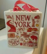 New Starbucks Ornament New York Been There Tote Bag Ceramic New