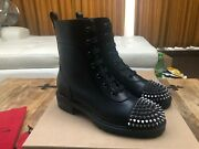 Christian Louboutin Black Spiked Boots New And Authentic