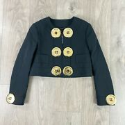 Moschino Couture Jeremy Scott Gold Oversized Button Jacket In Black Rrp Andpound1725