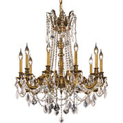 Crystal French Gold Quality Foyer Living Dining Room 10 Light 31 Chandelier