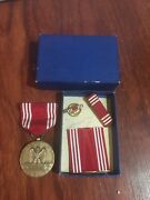 Authentic World War Ii Good Conduct Medal. Efficiency Honor Fidelity Comple
