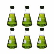 Corning Pyrex 4980-500, 500ml Narrow Mouth Erlenmeyer Flask With Rubber Stop...