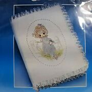 1984 Paragon Crewel Emboidery Kit Precious Moments Bible Cover Size 8x10 8160f