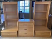 Vintage Dixie Solid Wooden 6-piece Dresser And Shelving Set - Local Pickup Only