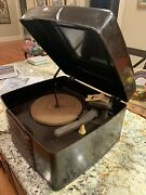 Rare 1946 Admiral 10/12 78rpm Record Player Bakelite Case 6rp48-3a1 Phonograph