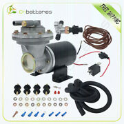 12 Volt Electric Vacuum Pump Kit Mounting Hardware For Brake Booster Systems
