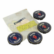 Brand New Genuine Saab Scania Alloy Wheel Centre Cap Set Of 4 Extremely Rare