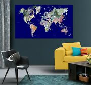 3d Banknote Puzzle Kep54 World Map Character Wall Mural Decal Stickers Poster Ka