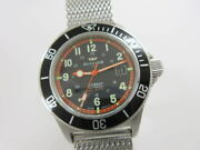 Glycine Combat Sub 3863.3 Automatic Black Dial Stainless Mesh Band Menand039s