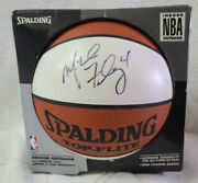 Michael Finley Signed Nba Spalding Top-flite Basketball Signed