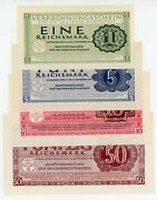Germany/ Clearing Notes ... P-m38-m41 ... 1-50 Reichsmark ... 1944 ... Ch Unc