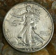 1934-s Silver Walking Liberty Half Dollar In About Uncirculated Condition