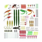 Fishing Lures Set, Baits Tackle Including Crank-baits Spinner-baits Plastic W...