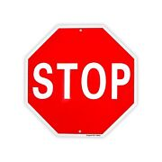 Stop Sign Street Slow Warning Reflective Signs 12x 12 40 Mil Rust Free Alum...