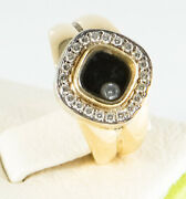 Happy Floating Diamond Birks Square Ring 18k Two Tone Gold