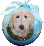 Goldendoodle Christmas Ball Ornament Dog Holiday Xmas Shatter Proof
