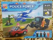 Block Tech 306 Pieces Police Force Thief Policeman With 4 Figurines Block Tech