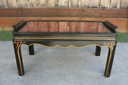 Vintage Asian/chinese Coffee Table By Drexel Red Black