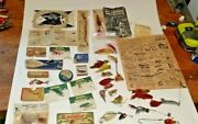 Antique Lot Fly Fishing Lures/tackle/literature Dickson Pflueger Higgens Nos