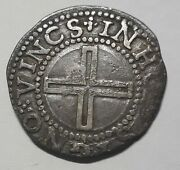Hammered Silver Coin - Kingdom Of Portugal – Filipe Iii – 1/2 Tostao Xf Ag03.01