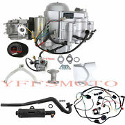 Atv 125cc Semi Auto Engine Motor 3+1 Reverse Full Wiring +exhaust Quad 4 Wheeler