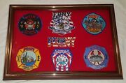 New York City Fire Dept Firefighters Patch Plaque 9-11-01 Display Case