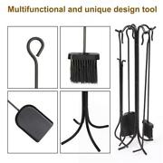 5 In 1 Stove Tool Set Fireplace Trim Toolse Fire Pit Tools Durable Shovel Stand