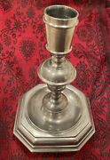 Collectible Handcrafted 6 3/4 John Somers Brazil Js X Mg Pewter Candlestick Mib