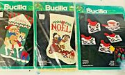 Sealed Vintage Bucilla Christmas Kits Stockings, Ornaments And More You Choose