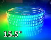 15.5ip68 Double Row Chasing Led Wheel Rings Light 4pcs Set Bluetooth-controlled