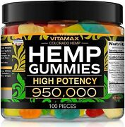 Natural Gummies For Stress Relief - Great For Pain Insomnia And Anxiety - 100ct