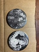 Vintage Rare Lot Of 2 Reissued Flagstaff Beer Pocket Mirrors Dated 1971