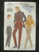 Vogue Pattern - 9369 Ladies Tapered Pants Side Buttons Or Zip 18-22 Plus Used