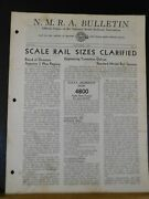 Nmra Bulletin 1945 October 4 Of 11th Year Scale Rail Sizes Clarified