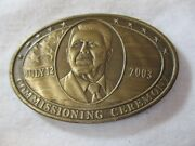 Us Navy Uss Ronald Reagan Cvn-76 July 12, 2003 Commissioning Challenge Coin