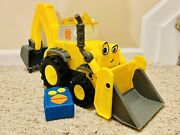 Bob The Builder Toy Tractor Super Scoop Rc Remote Control- Lights Sounds Music
